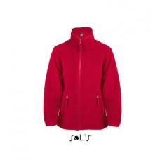 Дитяча куртка з флісу на блискавці SOL'S NORTH KIDS червоний