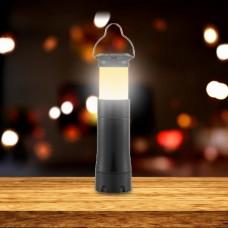 Ліхтар ручний Glow, 4 в 1, AL, лінза, фокус, 100LM чорний