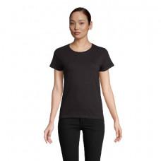Жіноча футболка SOL'S CRUSADER WOMEN чорний-насичений