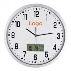 Настінний годинник з метеорологічних показниками білий