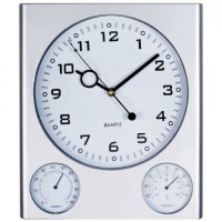 Годинник настінний сірий