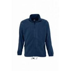 Куртка чоловіча з флісу SOL'S NORTH темно-синій