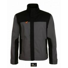 Куртка робоча IMPACT PRO, надміцна, 300 г / м.кв, 65% ПЕ, 35% ХБ темно-сірий/чорний