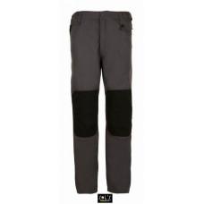 Штани робочі METAL PRO, надміцні, 300 г / м.кв, 65% ПЕ, 35% ХБ темно-сірий/чорний