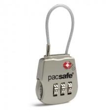 Замок кодовий для багажу Pacsafe Prosafe 800 сріблястий