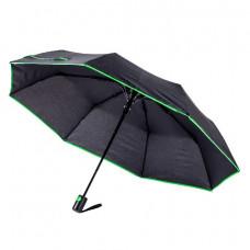 Парасоля складана напівавтоматична Bergamo SKY чорний/зелений