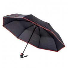 Парасоля складана напівавтоматична Bergamo SKY чорний/червоний