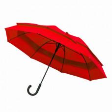 Большой зонт-трость полуатомат FAMILY красный