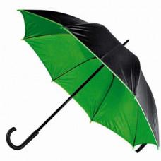 Зонт-трость Bergamo BLOOM, полуавтоматический зеленый