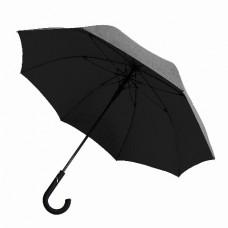 Зонт-трость LINE ART STATUS, полуавтоматический черный