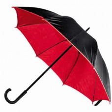 Зонт-трость Bergamo BLOOM, полуавтоматический красный