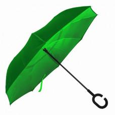 Зонт-трость LINE ART WONDER, обратное сложение, механический зеленый
