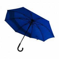 Зонт-трость полуатомат BACSAFE, удлиненная задняя секция темно-синий