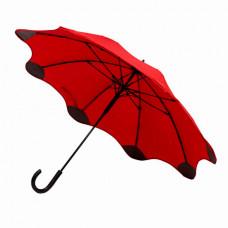 Зонт-трость полуатомат BLANTIER, с защитными наконечниками красный