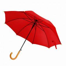 Зонт-трость Bergamo PROMO, полуавтоматический красный
