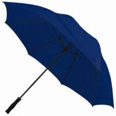 Прочный и большой зонт темно-синий