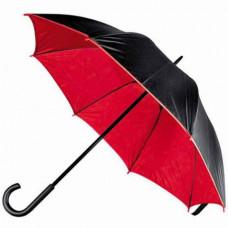 Зонт-трость, двухцветный черный/красный