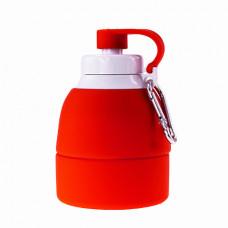 Складная бутылка для воды Bergamo TEMPO, силиконовая, 580 мл красный