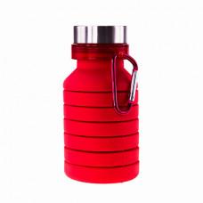 Пляшка для води Bergamo PAGODA, силіконова, 550 мл червоний