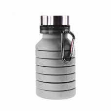 Бутылка для воды Bergamo PAGODA, силиконовая, 550 мл серый