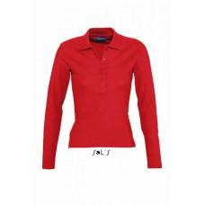 Рубашка поло с длинным рукавом SOL'S PODIUM красный