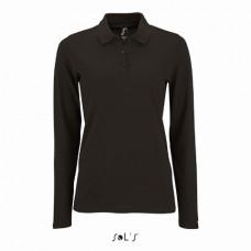 Жіноча сорочка поло з довгим рукавом PERFECT LSL WOMEN чорний