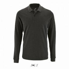 Мужская рубашка поло с длинным рукавом PERFECT LSL MEN угольный меланж