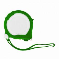 Рулетка Bergamo TAPE 200, 3 метра, 2 стопера, пластиковая, прорезиненый корпус зеленый