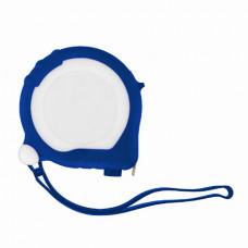 Рулетка Bergamo TAPE 200, 3 метра, 2 стопери, пластикова, прорезинений корпус синій