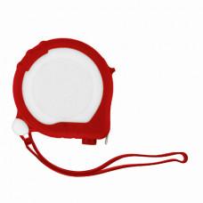 Рулетка Bergamo TAPE 200, 3 метра, 2 стопера, пластиковая, прорезиненый корпус красный