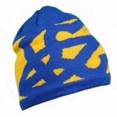 Шапка з акрилу, патріотична жовтий/синій