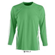 Футболка SOL'S WEMBLEY LSL зелений/білий