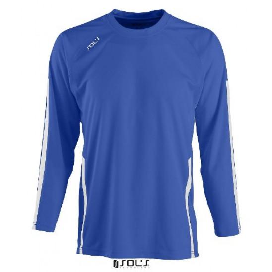 Футболка с длинным рукавом SOL'S WEMBLEY KIDS LSL ярко-синий/белый
