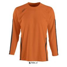 Футболка з довгим рукавом SOL'S WEMBLEY KIDS LSL помаранчевий/чорний