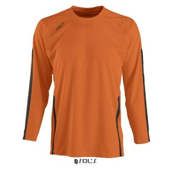 Футболка с длинным рукавом SOL'S WEMBLEY KIDS LSL оранжевый/черный