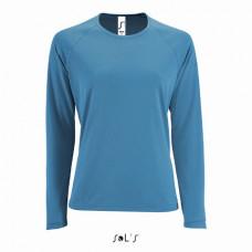 Жіноча спортивна футболка з довгим рукавом SPORTY LSL WOMEN морський