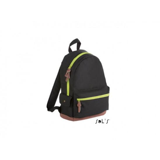 Рюкзак из полиэстера 600d SOL'S PULSE черный/неон-лайм