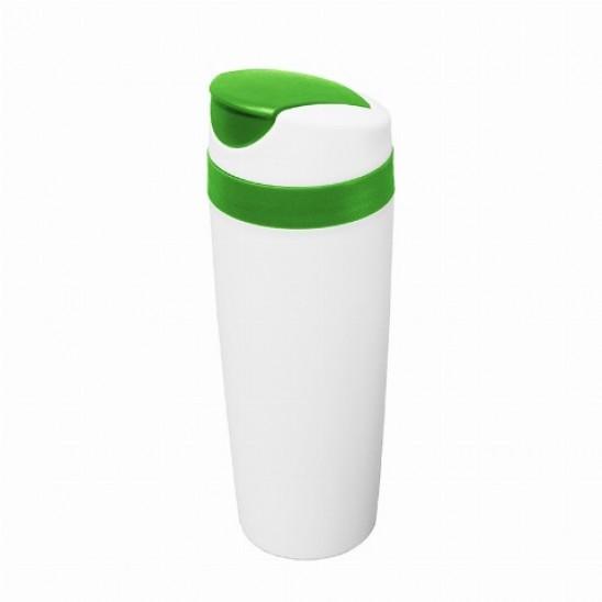 Термокружка Bergamo Alonzo, пластиковая, 450 мл. зеленый