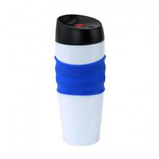 Термокружка Bergamo Mario, 400 мл білий/синій