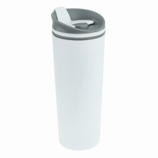 Термокружка Bergamo Positano, пластиковая, 500 мл белый