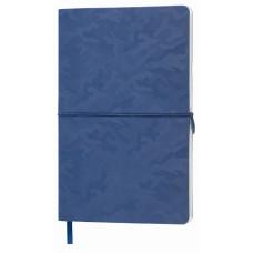 Блокнот TABBY FRANKY A5, 130х210 мм, м'яка обкладинка, клітинка, 256 сторінок, кишеню для візиток, ляссе в тон обкладинки темно-синій