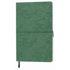 Блокнот TABBY  FRANKY, 130х210 мм, мягкая обложка, в клетку, 256 страниц, карман для визиток, ляссе в тон обложки зеленый