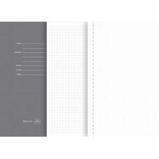 Блокнот SILKY A5, 130х210 мм, тверда обкладинка, в клітку, 256 сторінок чорний