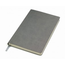 Блокнот FUNKY A5, 130х210 мм, мягкая обложка, линия, 256 страниц серый/зеленый