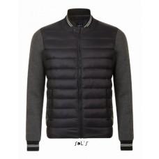 Куртка унісекс SOL'S VOLCANO тьмяно-сірий (попільний-меланж )/чорний