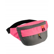 Поясная сумка Торнадо (серый-розовый)