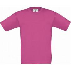Футболка детская B&C Exact 150 (Ярко-Розовый )