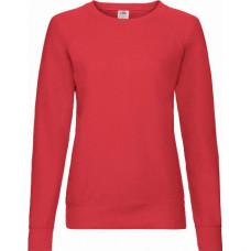 Свитшот облегченный женский Fruit of the loom  Lady Fit Lightweight Raglan Sweat (Красный )