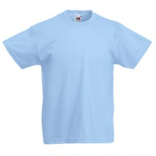 Футболка детская FOL Kids Valueweight Tee  Sky Blue