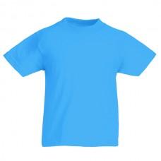 Футболка детская FOL Kids Valueweight Tee  Azure Blue